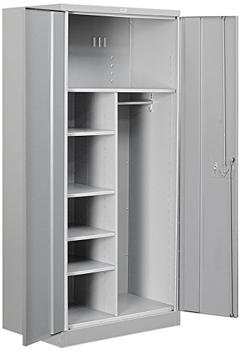 Salsbury Industries Heavy Duty Assembled Combination Storage Cabinet, 78-Inch High by 24-Inch Deep, Gray