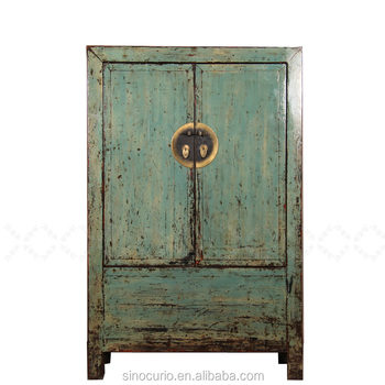 Antique Reclaimed Wood Chinese Style Wardrobe Cloth Cabinet