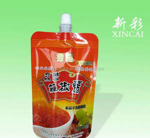 Plastic tomato sauce packaging /tomato ketchup spout pouch/ ketchup doypack