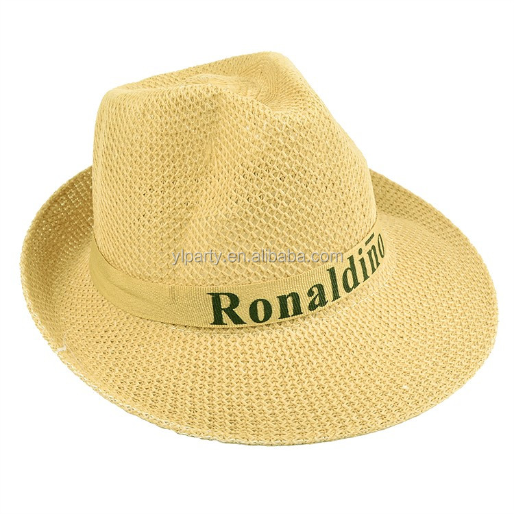 ed97488e66915 2017 New Premium Personalized Polyester Hat Paper Straw Hat For Summer  Panama Hat Cheap