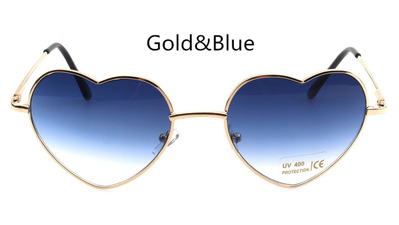 f009a29b64 Heart Shaped Sunglasses Women Pink Frame Metal Reflective Mirror Lens  Fashion Luxury Sun Glasses Round Face