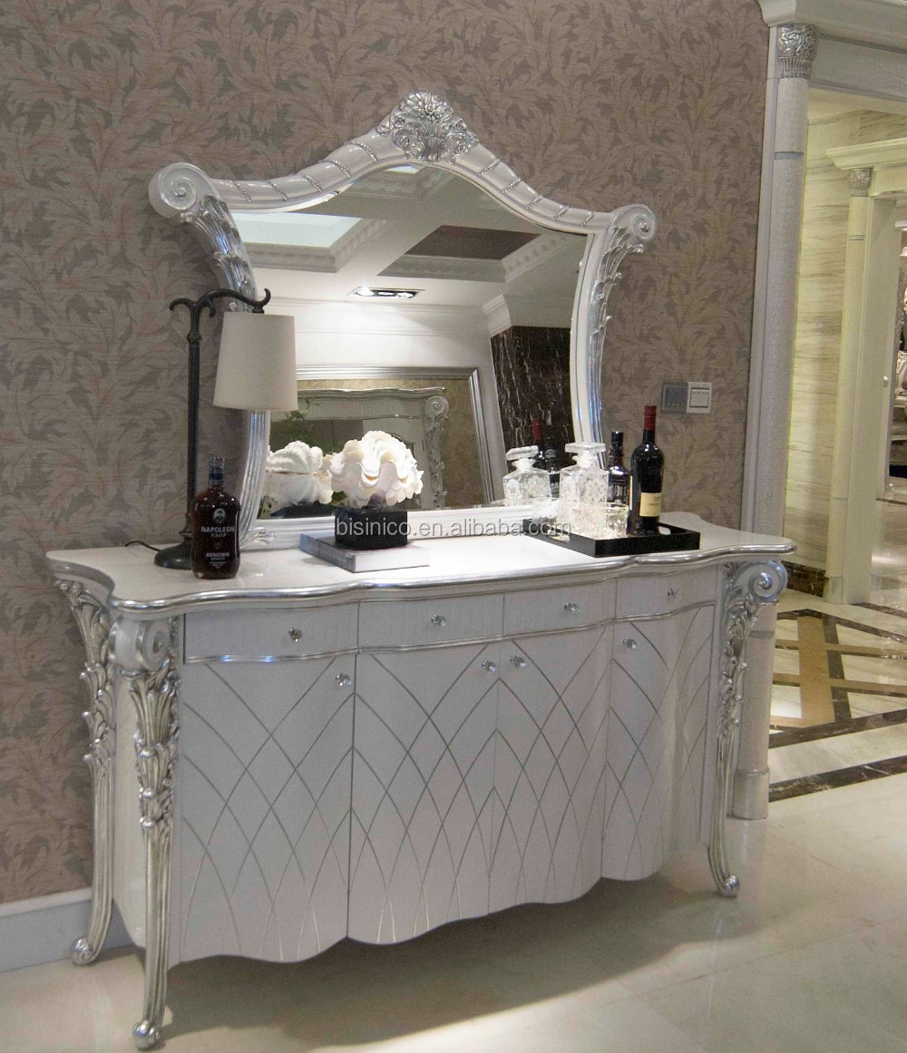 Louis Xvi Style Neoclassical Buffet Table Set White Ornate