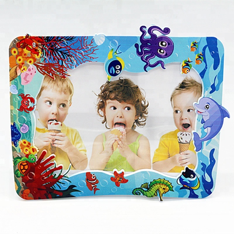Custom design druck/relief cartoon logo gummi 3D pvc foto rahmen