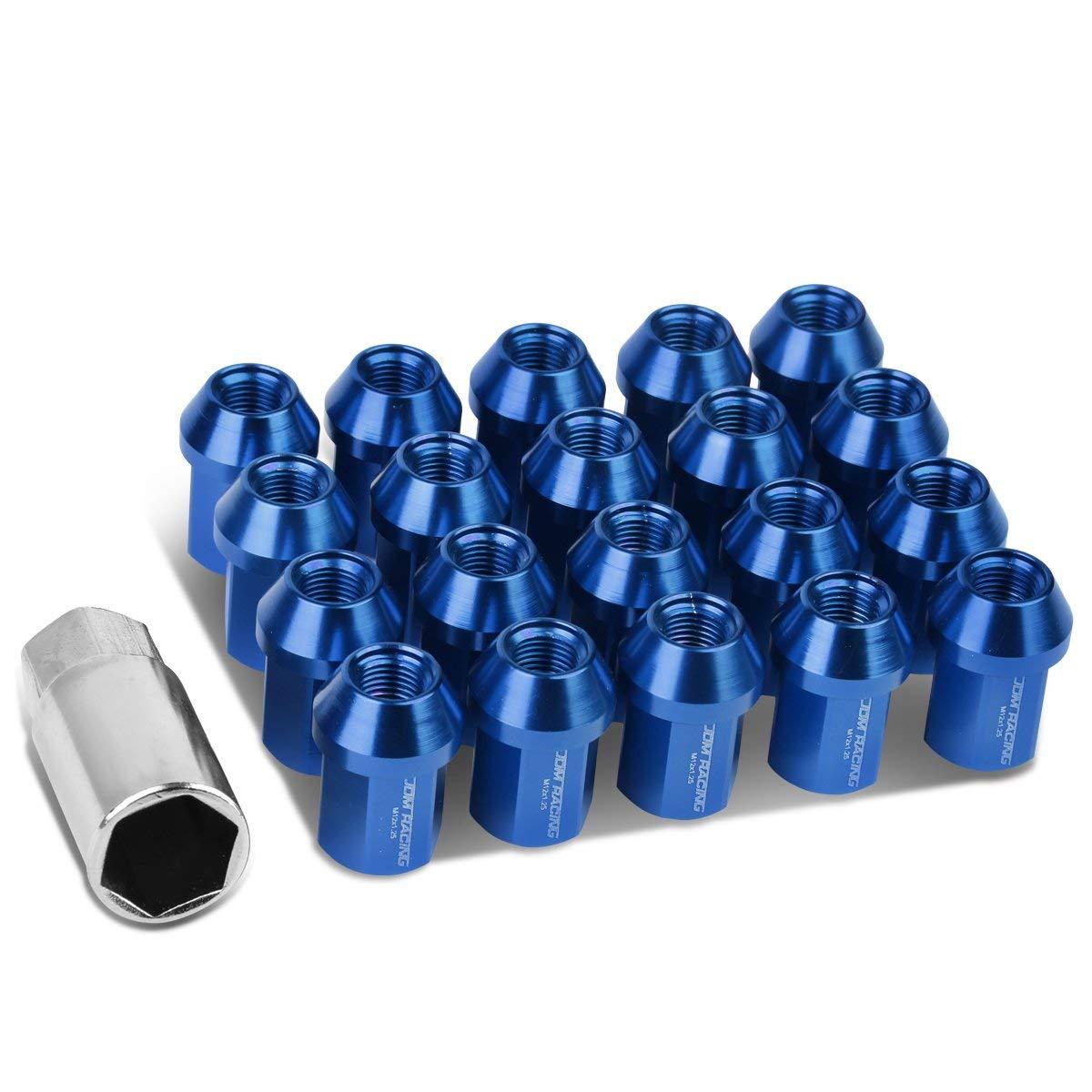 Gorilla Automotive 40037BL Acorn Bulge Open End Blue Lug Nuts 12mm x 1.50 Thread Size