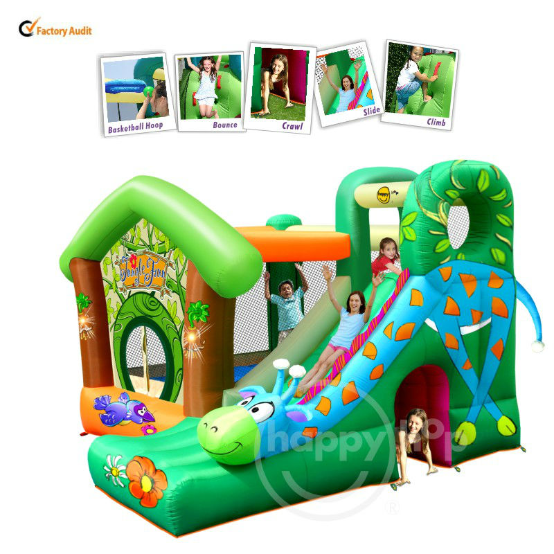 Happy hop Inflatable Bouner-9139 Inflatable Jungle Bouncer, Castle Slide bouncer,inflatable combo bouncer
