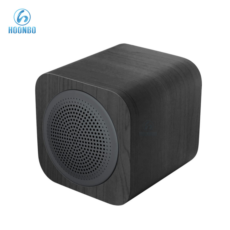 Hot Product Mini Cube Wooden Bluetooth Speaker Wholesale