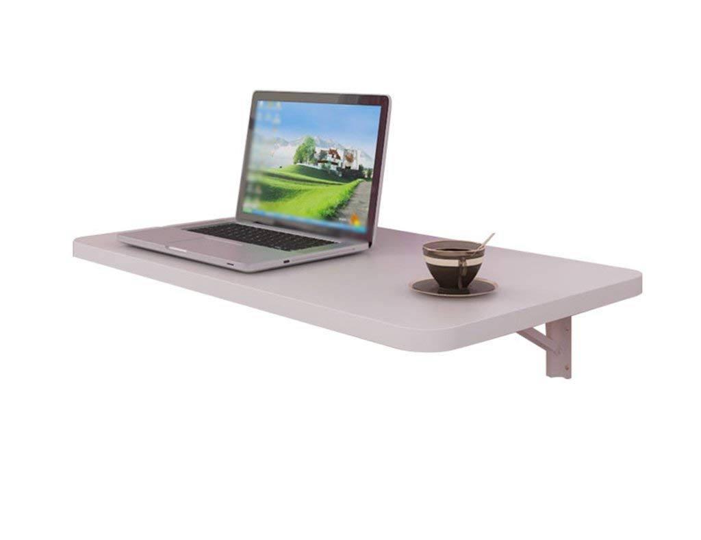 Mmdp Wall-mounted Computer Desk Simple Folding Side Table White Wall Hanging Corner Laptop Table 8040cm