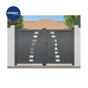 Aluminium swing contemporary gate house gate grill designs for Modern house gate designs philippines