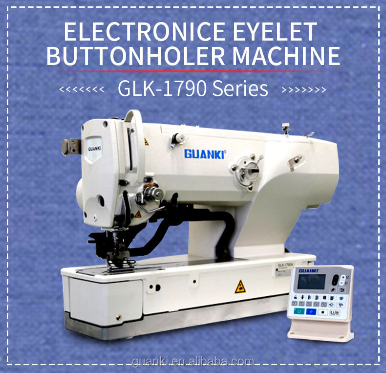 GLK-1790A electrónicos ojales camisa ojal máquina de coser industrial para GUANKI de ojales