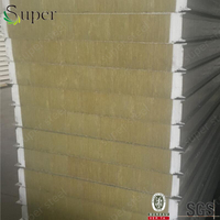 Australia standard insulated rockwool /mineral wool z lock sandwich panel for wall and roof