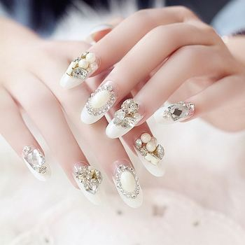 Professional French Style 3d Nail Art False Nail Tip Buy