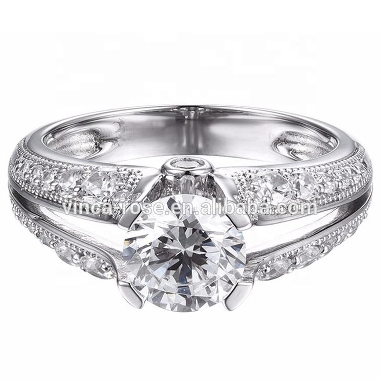 Unique Couple Wedding Rings 925 Sterling Silver Zircon ...