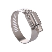China Factory Stainless Steel American Worm Type Hose Clamp European Type Perforated Band Heavy Duty High Pressiure Pipe Clamp