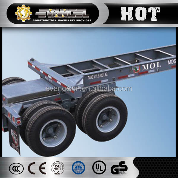 Lowest Price Cimc 2 or 3 Axle container trailer trailers truck Skeletal chassis semi Trailer