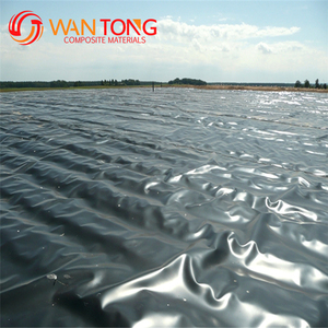HDPE fish pond liner 1mm plastic geomembrane price black / blue roll