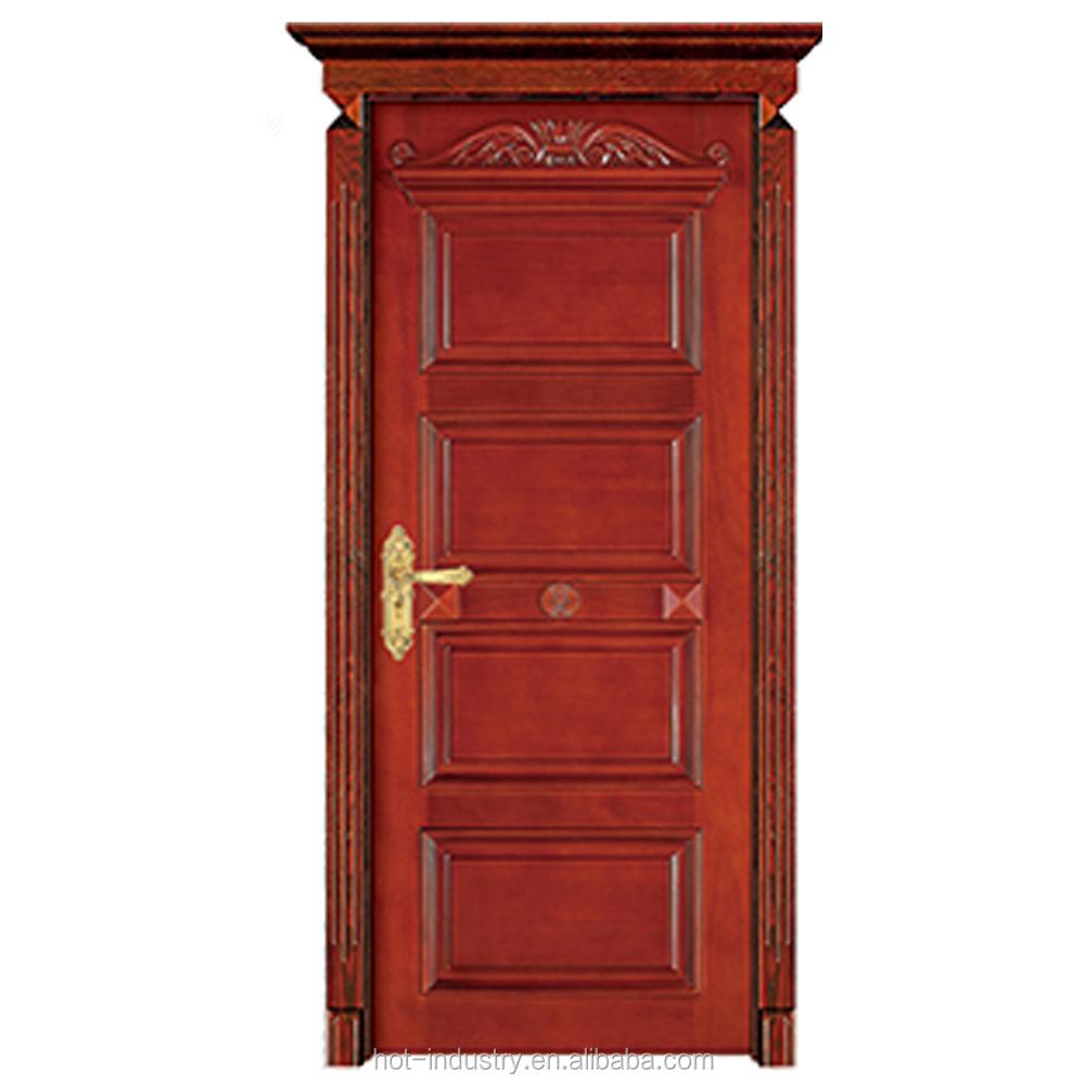 New Design Outdoor Finished Teak Wooden Main Door Frames Designs Fancy Wood Price Designer Entry Carved