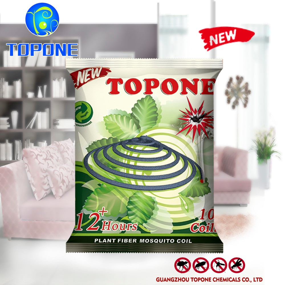 Topone Brand 140mm Cheap Unbreakable Plant Fiber Mosquito Coil
