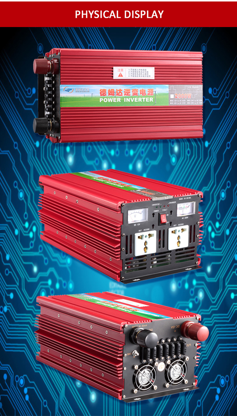 CE ROHS frequency converter price 12V 24V 2000W solar off grid inverter dc ac sine wave inverter
