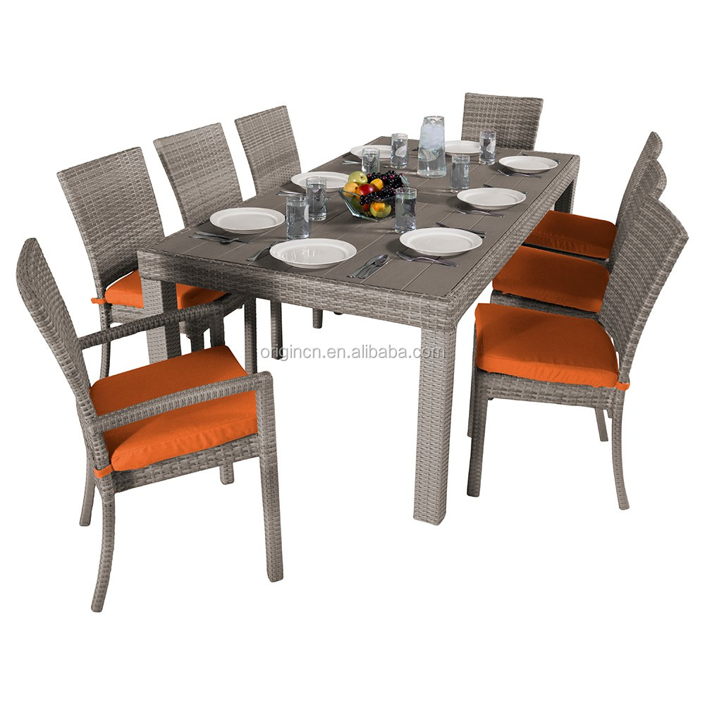 8 Seater Rattan Garden Table And Chairs