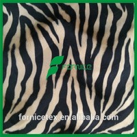 China manufacturer zebra print velvet fabric polyester