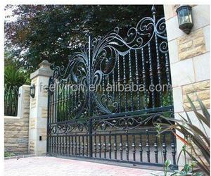 Modern new design of sliding iron main gate