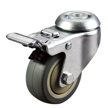"Premium 4"" Hollow Kingpin Mobile Scaffolding Caster Wheel For Industry"