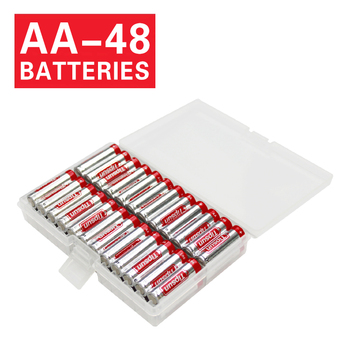 48 Battery Case AA Tipsun 1.5V LR6 Alkaline Batteries aa 10 Years Shelf Life
