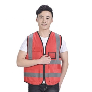 Hi-vis coattail reflective safety vest for motorcycle or jogging and working at night