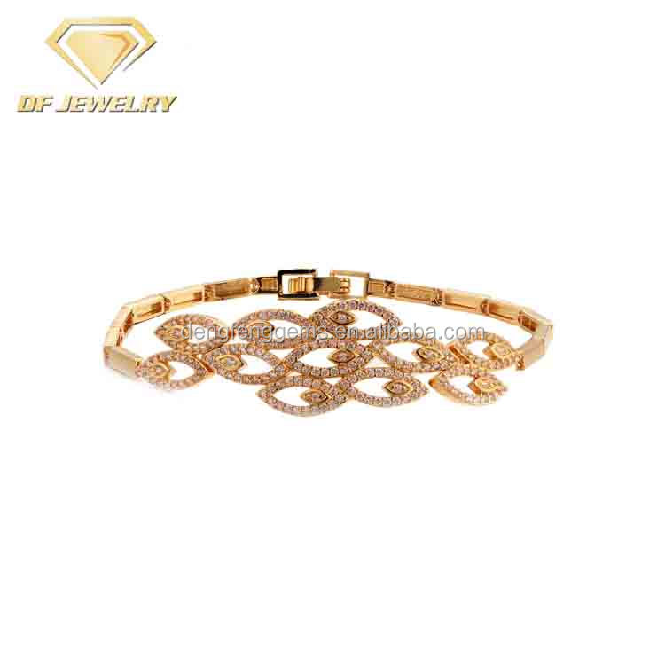 Necklace Bracelet Earrings Rings Gold Plated Indian Wedding Jewellery Set For Women