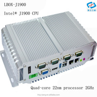 high performance Embedded mini industrial pc with J1900 quad-core processor fanless cooling
