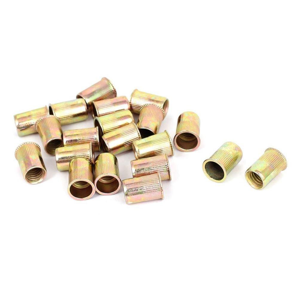 SODIAL(R) M10x21mm Blind Rivet Nuts Threaded Inserts Nutserts Fasteners 20pcs