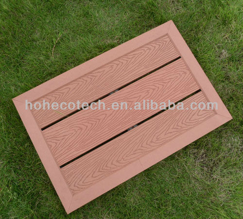 Easily Fabricated Leisure Park Wooden Decking/Wood Plastic
