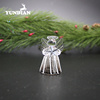 Factory handmade small hanging glass angel for christmas tree decorations gift