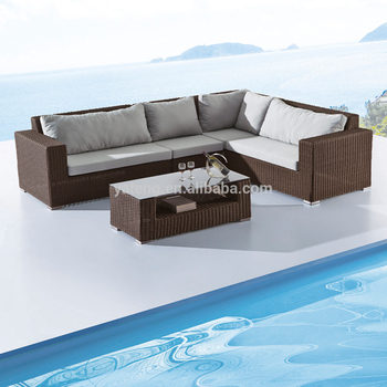 Modern Design Outdoor Rattan Sofa Set For Wicker Garden Corner
