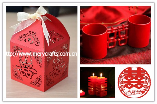 Chinese New Year Decoration 2017 Return Gift Red Laser Cut Double