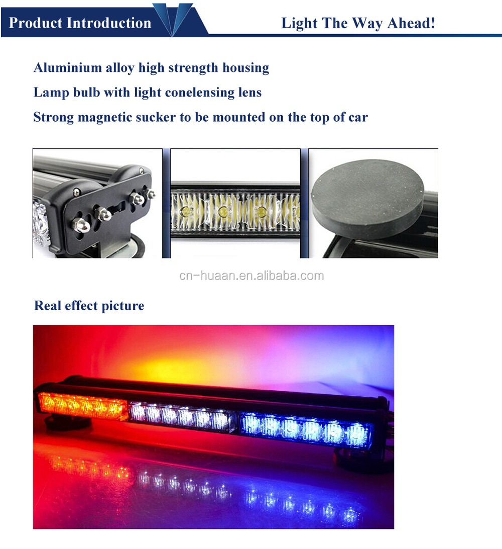 Double-face Magnetic Led Bar Light For Car,Truck Roof Police ...