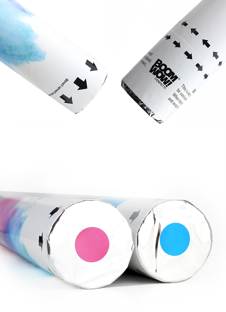 Boomwow Baby Gender Reveal Party Supplies Colour Smoke Powder Confetti Cannon