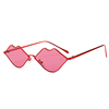 New trendy lip sharp metal frame women sunglasses 2019