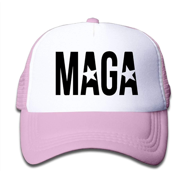 Get Quotations · Virginia W. Cole MAGA Logo Kids Boys Girls Mesh Cap  Adjustable Trucker Hat Baseball Cap e0d9276ec4eb