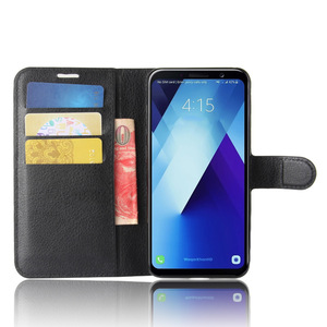 Original Mobile Phone Accessories Back Cover For samsung a8 And a8 plus 2018 Leather Cases