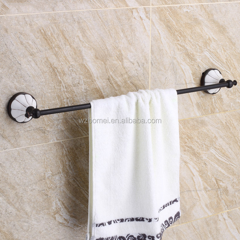 Household Hotel Bathroom Accessories Wall Mounted ORBTowel Bar BM7303B Towel Holder Oil Rubbed Bronze With china