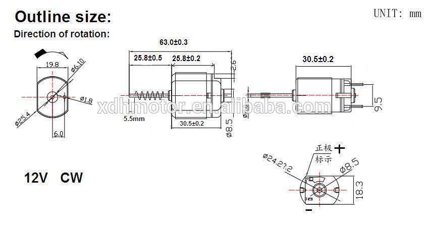 Dc 12v 12300rpm Mabuchi Dc Motor Fk 280sa 18165 For Home