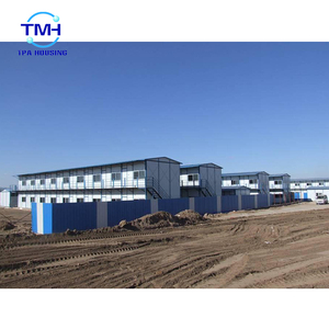 Two Storey Prefab Barn Homes Sandwich Panel Prefabricated House For Sale