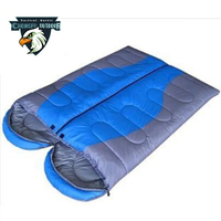 2018 hot sale outdoor double sleeping bag for camping equipment
