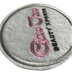 Custom Logo Patch Fashion Embroidery Patches For Handbag/Clothing Circle Iron Patch On Backing