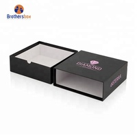 Handmade custom logo luxury hair extension packaging box black storage cardboard drawer gift box packaging box