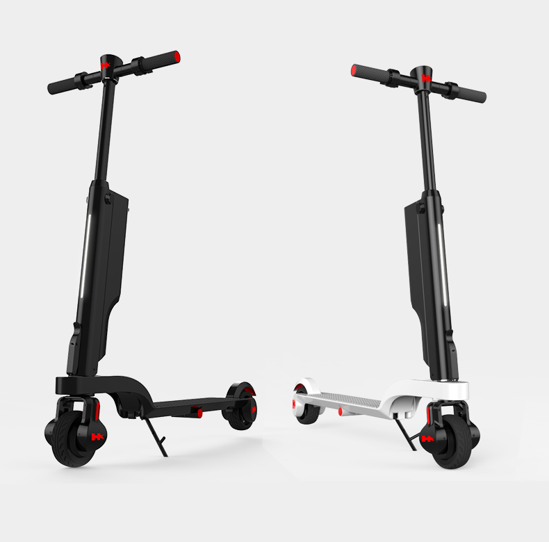 kick folding scooter electric folding backpack scooter with removable battery for Korea