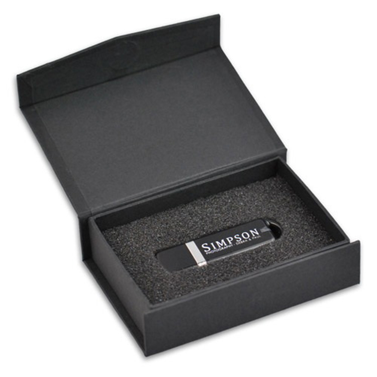black kraft handmade custom jewelry gift box