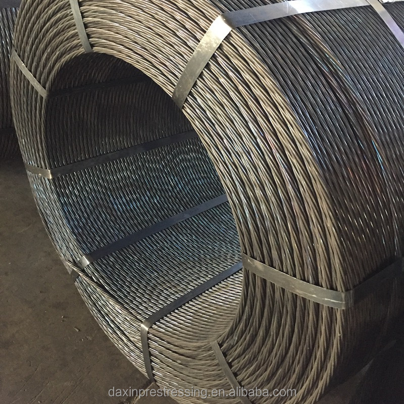 ARCS 12 7mm steel wires high post tensioning steel cable for post tensioning