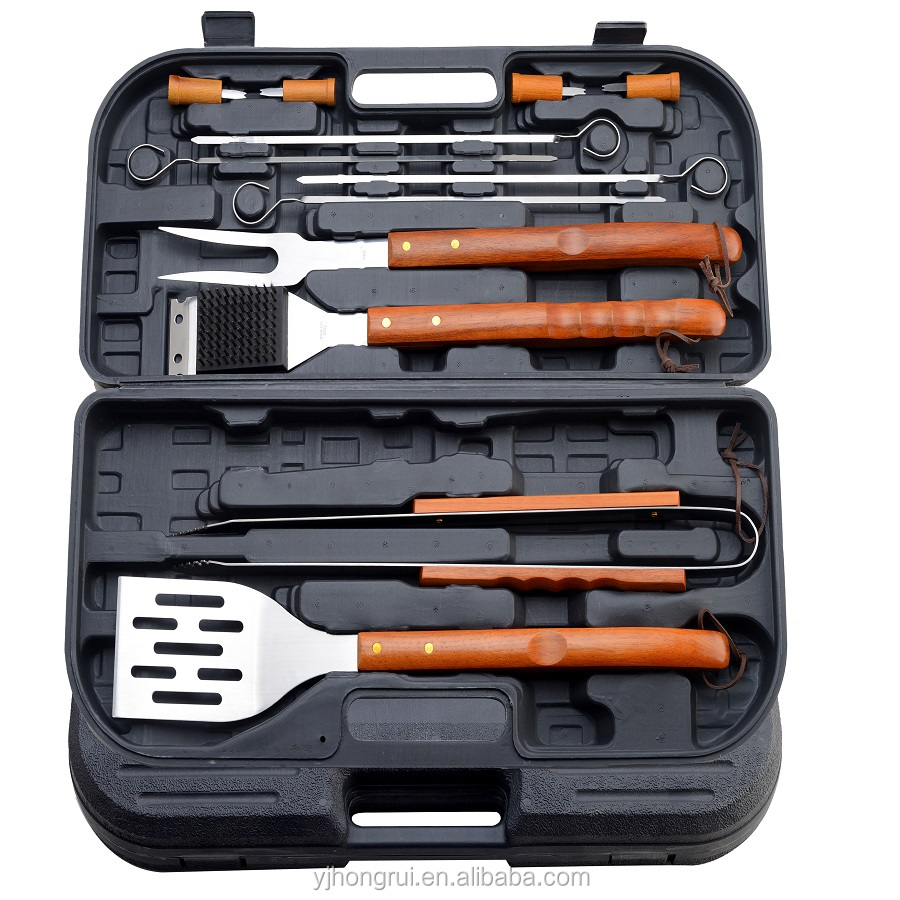 Metalen Barbecue tool set in bbq tool set met opbergtas
